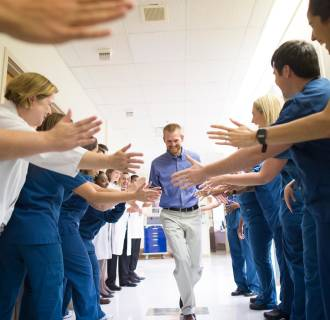 Image: Dr. Kent Brantly, the Samaritan's Purse doctor who contracted Ebola while treating patients at ELWA Hospital in Liberia, was released from Emory University Hospital