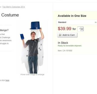 Image: Ice Bucket Challenge Costume