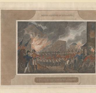 Image: Capture and Burning of the city of Washington, 1815. From a private collection