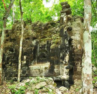 Image: Remains of an ancient Mayan city in Lagunita