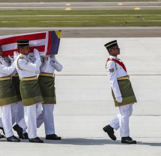 Image: Coffins arrive in Kuala Lumpur