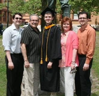 Image: Nicholas, Tony, Sean, Jean and Andrew Bufalo