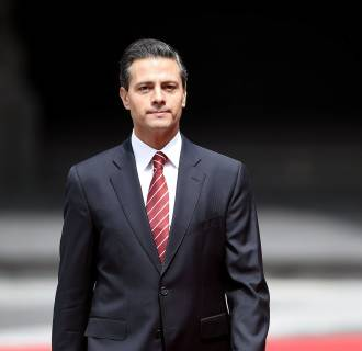 Image: Mexican President Enrique Pena Nieto on July 25.