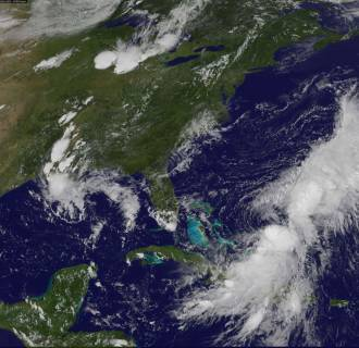 Image: This Aug. 25 NASA GOES satellite image shows Tropical Storm Cristobal near the Bahamas