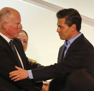 Image: Jerry Brown, Enrique Pena Nieto
