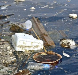 Image: Plastic pollution found 30 miles off the coast of Dondra Head, Sri Lanka.
