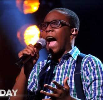 Phenom Quintavious Johnson sings.