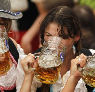Image: Oktoberfest revelers on Sept. 17, 2011