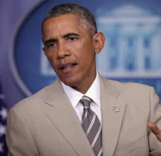 Image: President Obama Makes Statement In The Briefing Room Of White House