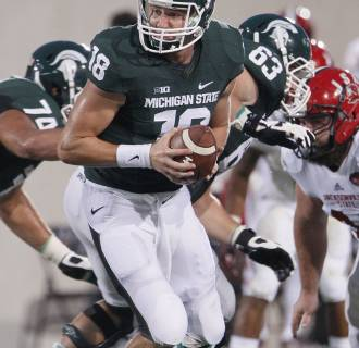 Image: Michigan State QB Connor Cook on August 29