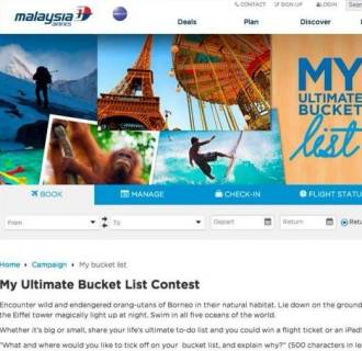 Malaysia Airlines' Ultimate Bucket List