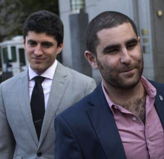 Image: Bitcoin promoter Shrem walks out of federal court in Lower Manhattan, New York