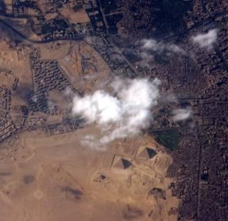 Image: Pyramids and Cairo