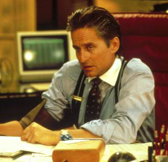 Image: Michael Douglas in the 1987 film