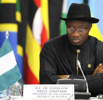 Image: Nigeria's President Jonathan attends the Africa Union Peace and Security Council Summit on Terrorism at the KICC in Nairobi