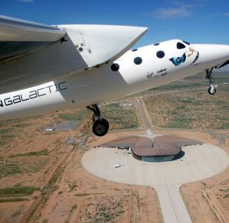 Image: WhiteKnightTwo over New Mexico