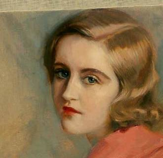 Believed to be a self-portrait, this unsigned painting shows Huguette Clark in her twenties.
