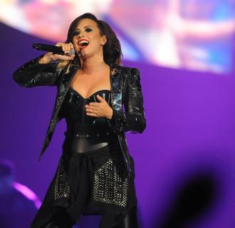 Image: Demi Lovato performs at the Baltimore Arena on Sept. 6, in Baltimore.