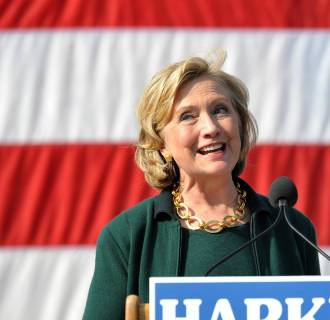 Image: Hillary Clinton Attends Annual Tom Harkin Steak Fry In Iowa