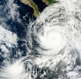 Image: Hurricane Odile is pictured off the west coast of the United States as it approaches the Baja Peninsula in this September 14, 2014 NASA handout satellite image