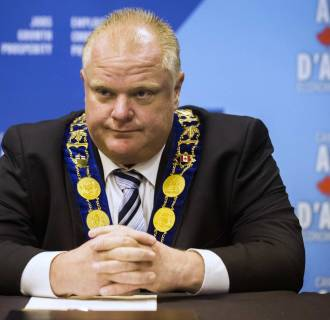 Image: Toronto Mayor Ford is pictured during a news conference about the announcement about the renewal of the federal Gas Tax Fund in Toronto in this file photo
