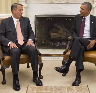 Image: Barack Obama, John Boehner