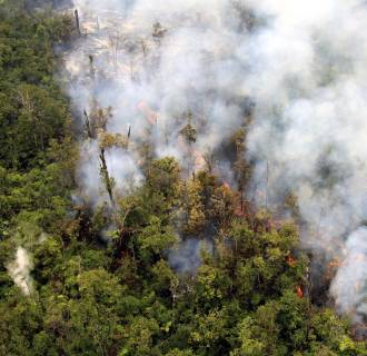Image: Lava flow threatens homes on Hawaii