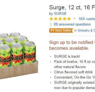 'Surge' sells out on Amazon