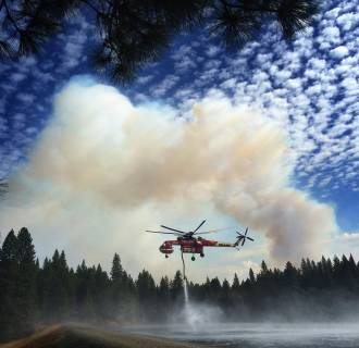 Image: Firefighters Collect Water To Fight California Wildfire