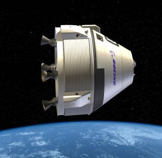 Image: An illustration of Boeing's  Crew Space Transportation (CST)-100.