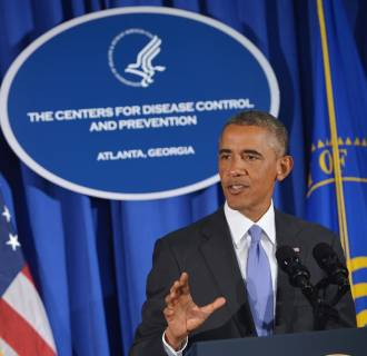 Image: President Barack Obama speaks about Ebola