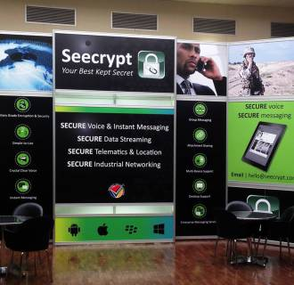 Image: A Seecrypt display at the annual Micssa symposium in Lynwood Pretoria, South Africa