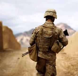 Image: U.S. Marine patrols in southern Afghanistan's Helmand province