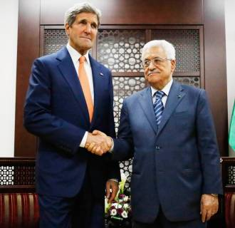 Image: U.S. Secretary of State Kerry meets Palestinian Authority President Abbas in West Bank city of Ramallah