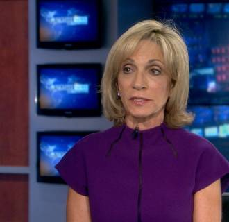 Image: NBC's Andrea Mitchell speaks on about the air strikes on Syria
