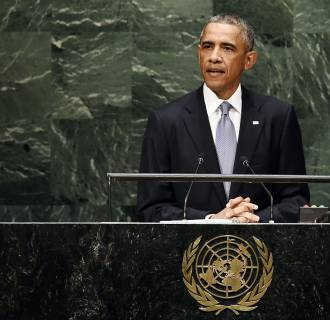 Image: President Barack Obama speaks during the 69th Session of the UN General Assembly