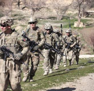 Image: US Troops Patrol Village In Afghanistan's Logar Province