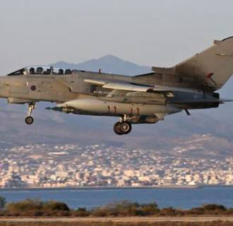 Image: A UK RAF Tornado jet used to carry out airstrikes in Iraq