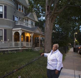 Image: Image: Marilyn Mack outside her home in Roxbury