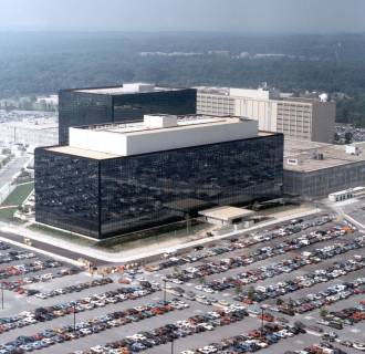 Image: National Security Agency headquarters building in Fort Meade, Maryland