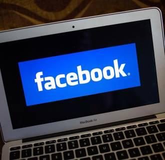 Image: A file photo of a Facebook logo