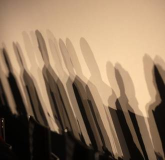 Image: Shadows seen on a wall