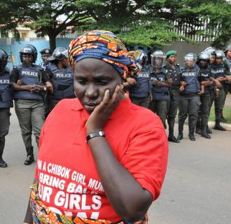 Image: Protests mark kidnapping of Nigerian schoolgirls in Abuja