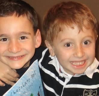 Image: Best friends Dylan Siegel and Jonah Pournazarian featured on NBC Night News' Making a Difference.