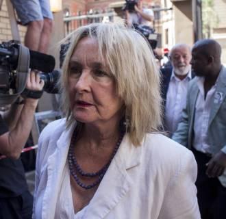 Image: June Steenkamp arrives at the North Gauteng High Court