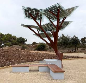 The eTree's designers say it will operate automatically and provide energy around the clock.