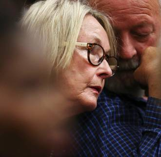 Image: June and Barry Steenkamp, parents of Reeva Steenkamp