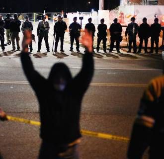 Image: Activists March In Ferguson On Nat'l Day Of Action Against Police Brutality