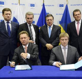 Image: Gas deal struck between Russia and Ukraine