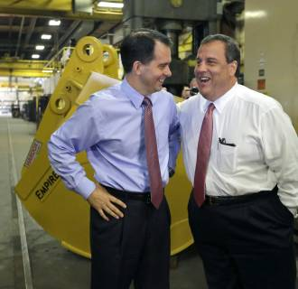 Image: Chris Christie, Scott Walker